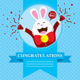 Baby Shower Bunny Royalty Free Stock Images