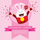 Baby Shower Bunny. This is baby shower greetings. Vector format Royalty Free Stock Photography