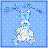 Baby shower with bunny toy Royalty Free Stock Image