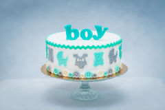 Baby shower cake Royalty Free Stock Photos