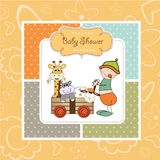 Baby shower card stock illustration