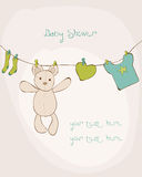 Baby Shower Card. With place for your text Stock Images