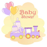 Baby Shower card. Vector illustration Royalty Free Stock Photos