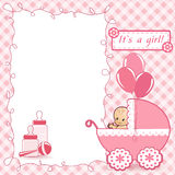 Baby Shower card. Vector illustration Royalty Free Stock Images