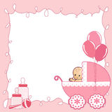 Baby Shower card. Vector illustration Royalty Free Stock Image