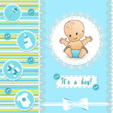 Baby Shower card. Vector illustration Stock Photography