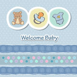 Baby shower card. With funny animals Royalty Free Stock Photo