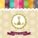 Baby shower card Stock Images