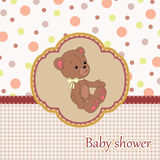 Baby shower card Stock Photography
