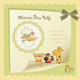 Baby shower card Royalty Free Stock Image
