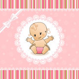 Baby Shower card. Vector illustration Royalty Free Stock Photo