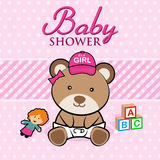 Baby Shower. Card Royalty Free Stock Images