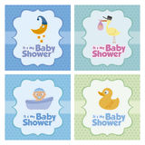 Baby shower Card Stock Image