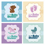 Baby shower Card Royalty Free Stock Images