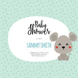 Baby Shower card Royalty Free Stock Photos