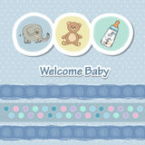 Baby shower card with animals Stock Photos