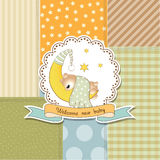 Baby shower card. Baby shower announcement card in vector format Royalty Free Stock Images