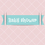 Baby shower card. Arrival card. Stock Images