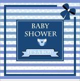 Baby shower card, for baby boy Royalty Free Stock Photo