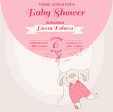 Baby Shower Card - Baby Bunny Royalty Free Stock Photography