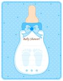 Baby shower card for boys Royalty Free Stock Photo