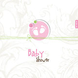 Baby shower card with copy space Stock Photo