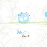 Baby shower card with copy space Stock Images