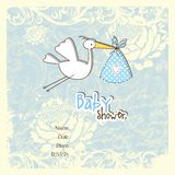 Baby shower card with copy space Royalty Free Stock Image