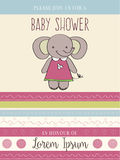 Baby shower card with cute little mouse Royalty Free Stock Images
