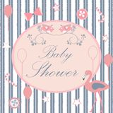 Baby Shower. Card Design with message. Stock Photography