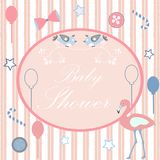 Baby Shower. Card Design with message. Stock Photo