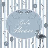 Baby Shower. Card Design with message. Stock Images