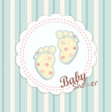 Baby shower card design Royalty Free Stock Image