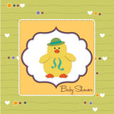 Baby shower card with duck Royalty Free Stock Images