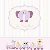baby shower card with elephant Stock Image