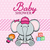 Baby Shower. Card. EPS 10 file and large jpg included Stock Image