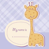 Baby shower card with giraffe Royalty Free Stock Photos