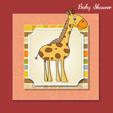 Baby shower card with giraffe Royalty Free Stock Images