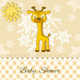Baby Shower card with giraffe. Stock Photos