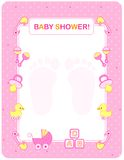 Baby shower card for girls vector illustration