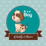 Baby shower card invitation its a boy. Vector illustration eps 10 Royalty Free Stock Photos