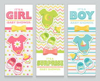 Baby shower card invitation set Stock Photography
