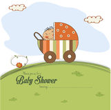 Baby shower card with little boy Royalty Free Stock Photo