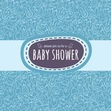 Baby shower card or newborn photo album cover template Stock Photography