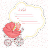 Baby shower card for a newborn. Vector Royalty Free Stock Image