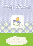 Baby shower card with pacifier Stock Images