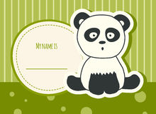 Baby shower card with panda Stock Photos