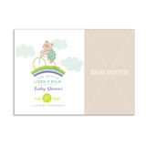 Baby Shower Card with Photo Frame Stock Image