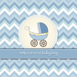 baby shower card with pram Stock Images