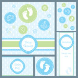 Baby shower card set Stock Photo